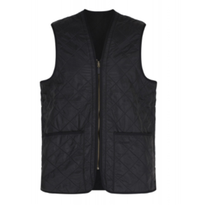 유럽직배송 바버 BARBOUR POLARQUILT WAISTCOAT ZIP IN LINER BLACK MLI0002BK91