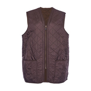 유럽직배송 바버 BARBOUR POLAQUILT WAISTCOAT ZIP IN LINER DARK BROWN MLI0002BR71