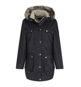 유럽직배송 바버 BARBOUR WOMEN'S CARRIBENA WAXED JACKET NAVY LWX0642NY92