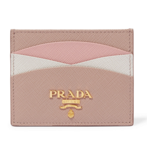유럽직배송 프라다 카드 지갑 홀더 PRADA COLOR BLOCK TEXTURED LEATHER CARD HOLDER 1061710