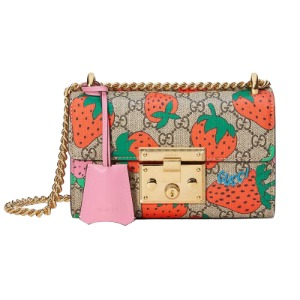 유럽직배송 구찌 패드락 GG 스몰 숄더백 GUCCI PADLOCK GG STRAWBERRY SMALL SHOULDER BAG ‎409487 G89AG 8483