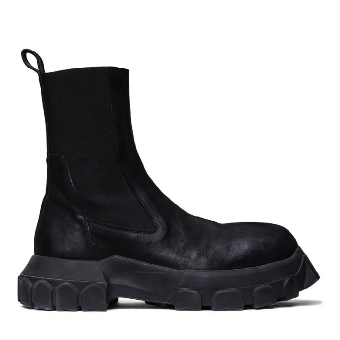 유럽직배송 릭오웬스 부츠 RICK OWENS BOZO BEATLES BOOTS IN BLACK