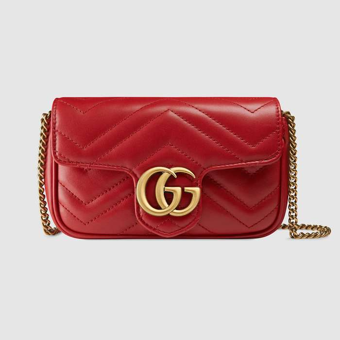 유럽직배송 구찌 GUCCI GG Marmont matelassé leather super mini bag 476433DSVRT6433
