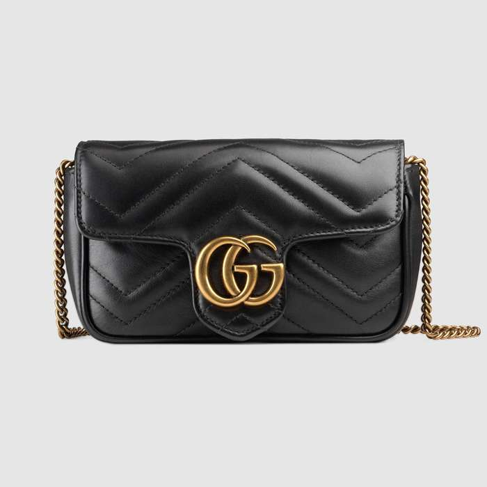 유럽직배송 구찌 GUCCI GG Marmont matelassé leather super mini bag 476433DSVRT1000