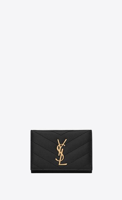 유럽직배송 입생로랑 SAINT LAURENT MONOGRAM key case in grain de poudre embossed leather  580656BOW011000