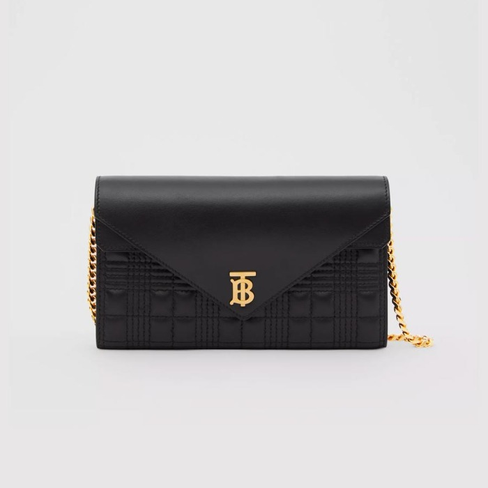 유럽직배송 버버리 체인 지갑 BURBERRY Quilted Lambskin Wallet with Detachable Chain Strap 80260071
