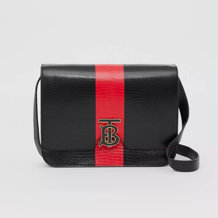유럽직배송 버버리 미디엄 숄더백 BURBERRY Medium Striped Embossed Leather TB Bag 80230471