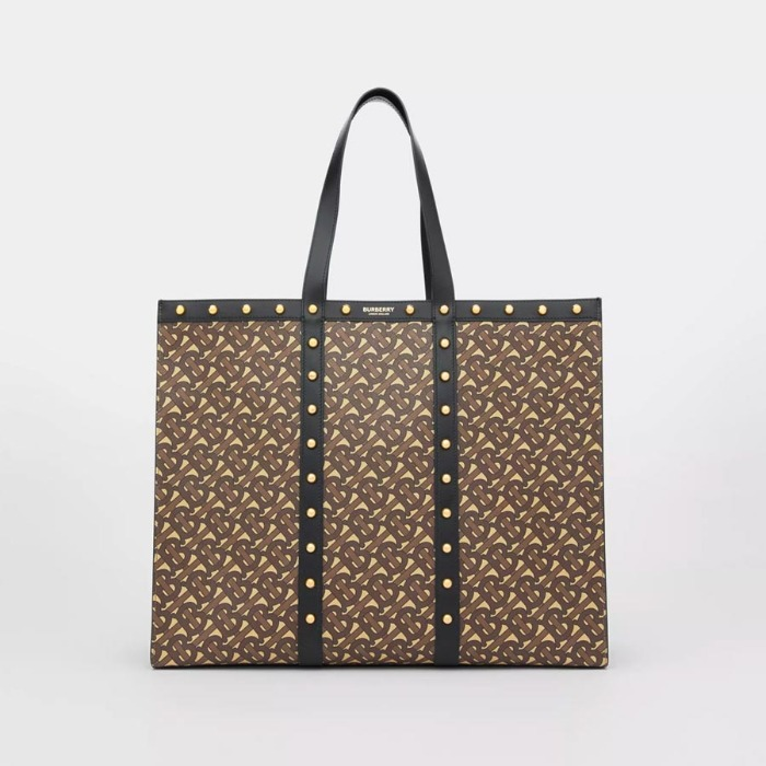 유럽직배송 버버리 토트백 BURBERRY Monogram Print E-canvas Tote Bag 80258391