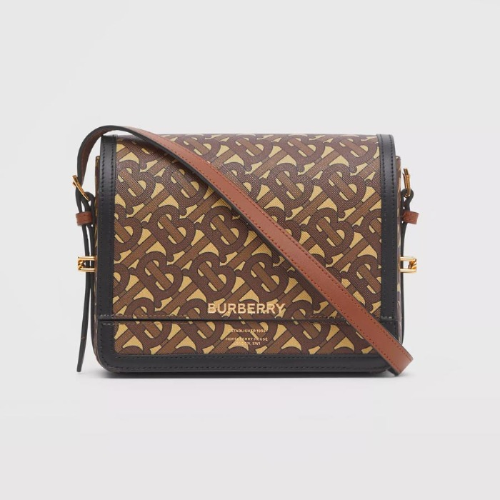 유럽직배송 버버리 스몰 그레이스백 BURBERRY Small Monogram Print E-canvas Grace Bag 80264311