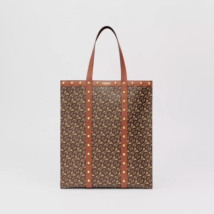 유럽직배송 버버리 토트백 BURBERRY Monogram Print E-canvas Portrait Tote Bag 80230121