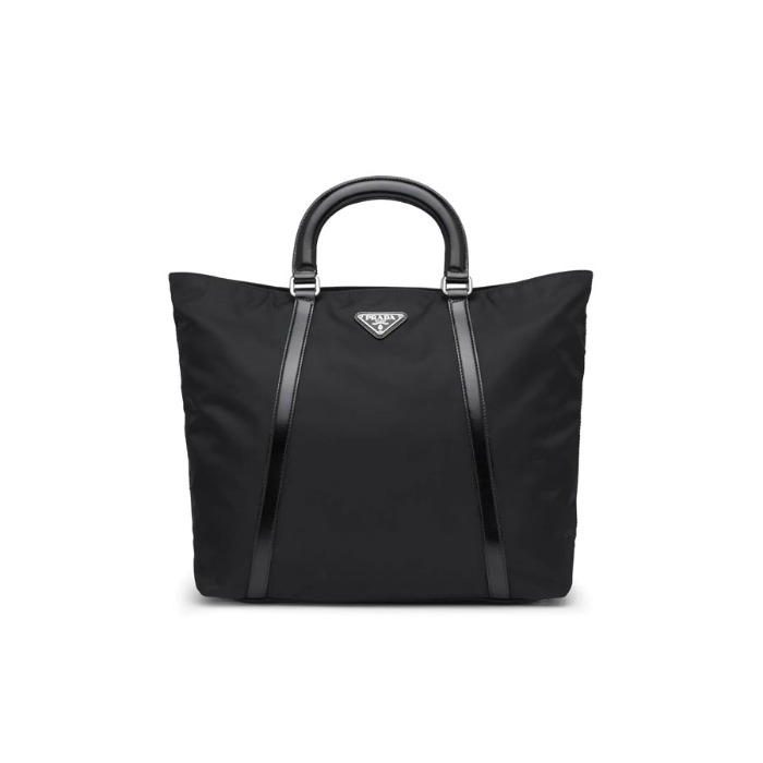 유럽직배송 프라다 미디엄 토트백 PRADA Medium nylon and leather tote 1BG285_789_F0002_V_NOO