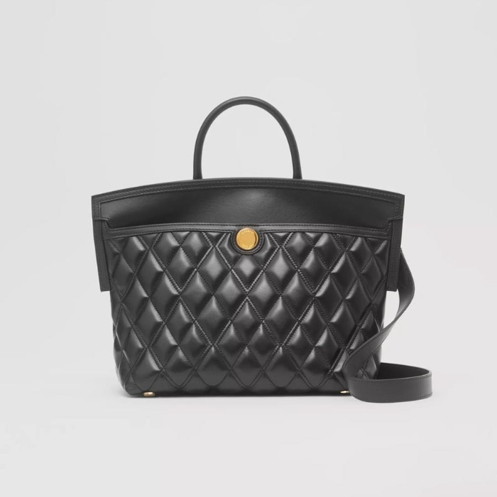 유럽직배송 버버리 핸드백 BURBERRY Small Quilted Lambskin Society Top Handle Bag 80258021