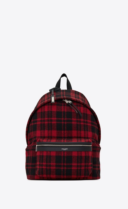 유럽직배송 입생로랑 SAINT LAURENT CITY backpack in tartan 534967GKP6F6461