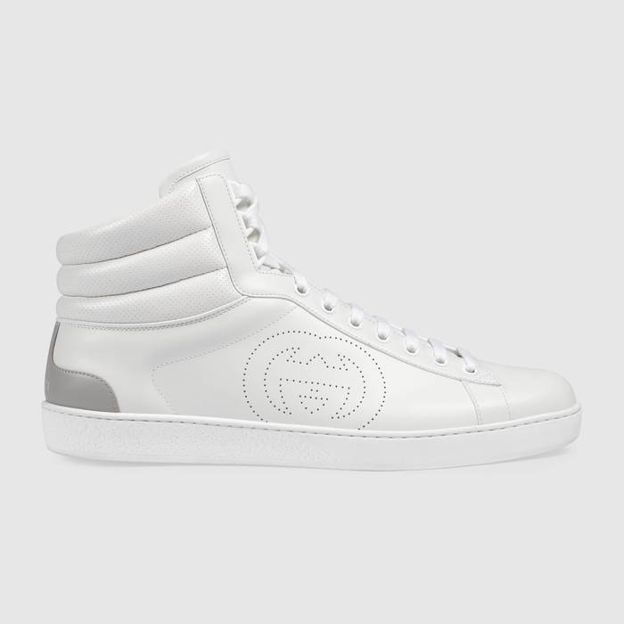 유럽직배송 구찌 GUCCI Gucci Men's high-top Ace sneaker 6256721XG109110