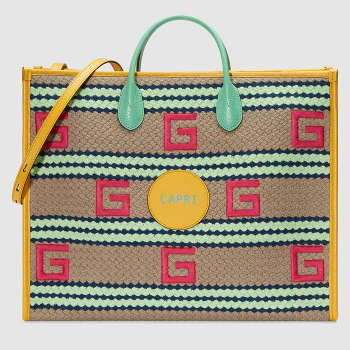 유럽직배송 구찌 GUCCI Gucci Capri striped tote bag 6303802BMGG9688