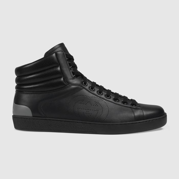 유럽직배송 구찌 GUCCI Gucci Men's high-top Ace sneaker 6256721XG101070