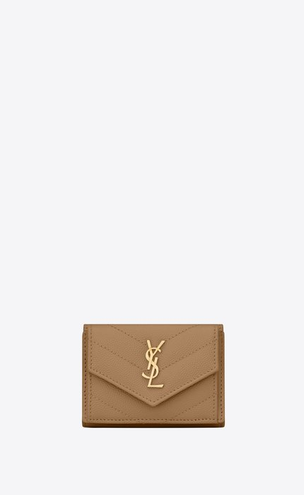 유럽직배송 입생로랑 SAINT LAURENT MONOGRAM tiny wallet in grain de poudre embossed leather 602791BOWA12643