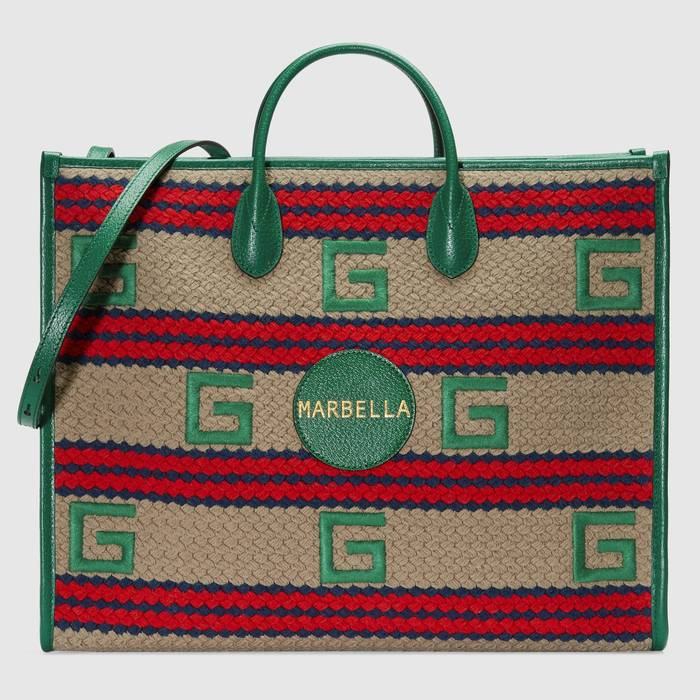 유럽직배송 구찌 GUCCI Gucci Marbella striped tote bag 6303802BMDG9683