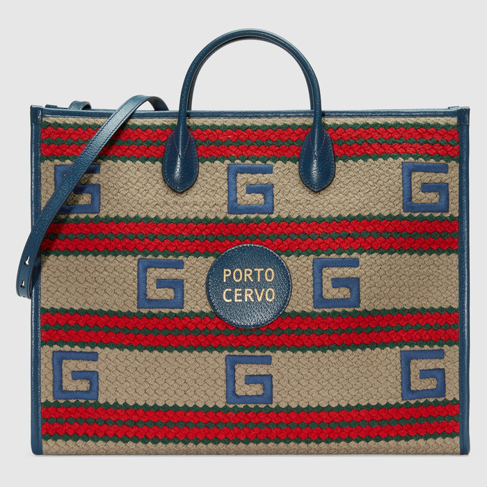유럽직배송 구찌 GUCCI Gucci Porto Cervo striped tote bag 6303802BMAG9685