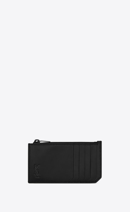 유럽직배송 입생로랑 SAINT LAURENT TINY MONOGRAM FRAGMENTS zip card case in matte leather 6298991JB0U1000