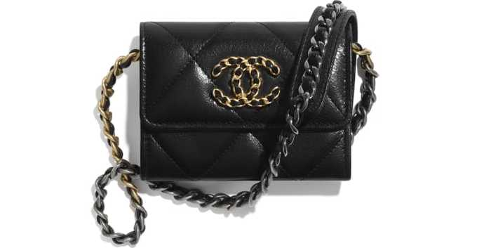 유럽직배송 샤넬 CHANEL CHANEL 19 Flap Coin Purse with Chain AP1787B0321194305