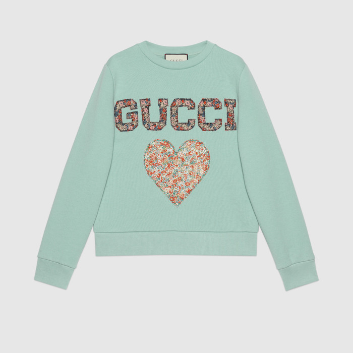 유럽직배송 구찌 GUCCI Gucci - Gucci Liberty sweatshirt with patches 623450XJC0D3464
