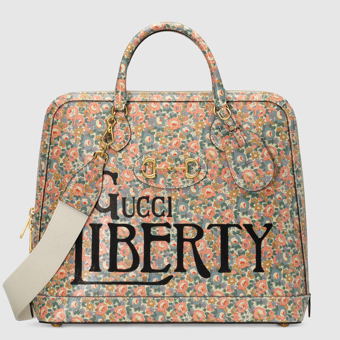 유럽직배송 구찌 GUCCI Gucci - Gucci Horsebit 1955 Liberty London small duffle bag 62164013KBG5961