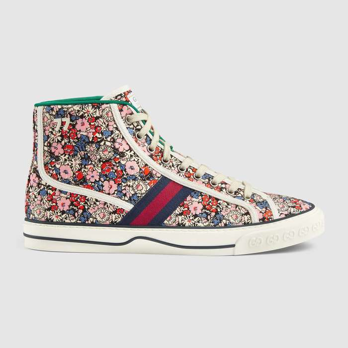 유럽직배송 구찌 GUCCI Gucci - Men's Gucci Tennis 1977 Liberty London high top sneaker 6258072HC208861